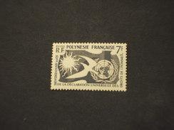 POLINESIA 1958 DIRITTI/UCCELLO - NUOVO(++) - Polinesia Francese