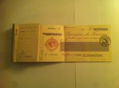 Cheques Banque De France - Schecks  Und Reiseschecks