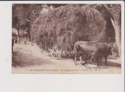 CPA - La Dordogne Illustrée - Un Attelage De Boeufs - Char De Foin - Métier Agriculture Récolte - Unclassified