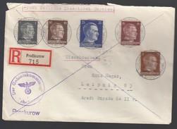 DR Deutsche Dienstpost Ukraine 1942 Proßkurow Nach Leipzig K82 - Dienstpost
