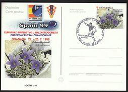 Croatia Zagreb 1999 / Football, Soccer / European Futsal Championship Granada / Philatelic Exhibition - Football