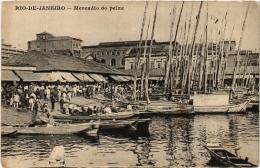 CPA RIO DE JANIERO Mercadio Do Peixe. BRAZIL (a4739) - Brasil