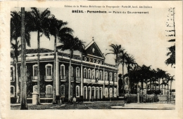 CPA PERNAMBUCO Palais Du Gouvernement. Ed. De La Maison Bresilienne De Propagande BRAZIL (a4775) - Brasil