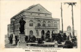 CPA PERNAMBUCO Theatre Ste Izabelle. Ed. De La Maison Bresilienne De Propagande BRAZIL (a4776) - Brasil