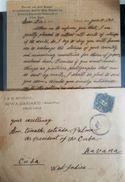 O) 1899 JAPAN, COMPLETE LETTER, SYMBOL  IMPERIAL, SCOTT A27 BLUE, HOSPITAL IKWA DAIGAKU-MEDICAL COLLEGE,  XF - Japan