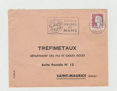 LSC 1964 - Flamme 24 HEURES DU MANS - Cachet LE MANS Gare (SARTHE) - Marcophilie (Lettres)