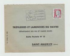 LSC 1963 - Flamme LE MANS Les 24 HEURES  - Cachet LE MANS Gare (SARTHE) - Marcophilie (Lettres)