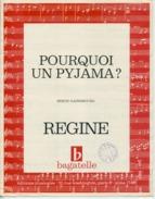61 80 SERGE GAINSBOURG PARTITION POURQUOI UN PYJAMA ? RÉGINE 1966 - Autres