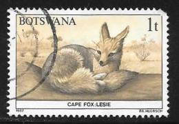 Botswana, Scott # 404 Used Wildlife Conservation, 1987, Round Corner - Botswana (1966-...)