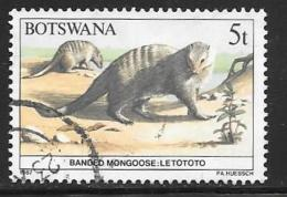 Botswana, Scott # 408 Used Wildlife Conservation, 1987 - Botswana (1966-...)