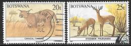 Botswana, Scott # 414-5 Used Wildlife Conservation, 1987 - Botswana (1966-...)