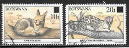 Botswana, Scott # 480-1 Used Wildlife Conservation, Surcharged, 1990 - Botswana (1966-...)