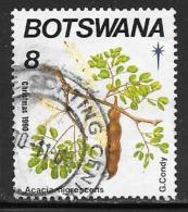 Botswana, Scott # 483 Used Flowering Trees, Christmas, 1990 - Botswana (1966-...)