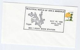 1998 COVER GEM & MINERALS The BIG 1 ROCK SHOW Berea USA EVENT  Stamps - Minerals