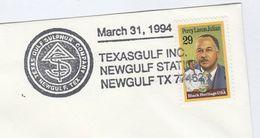 1994 Newgulf COVER SULPHUR EVENT  The TEXAS GULF SULPHUR COMPANY Usa Stamps Minerals - Minerali