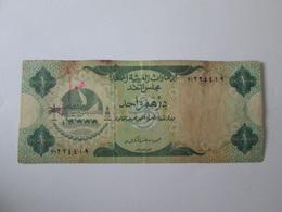 Rare! United Arab Emirates 1 Dirham 1973 Banknote - Emirats Arabes Unis