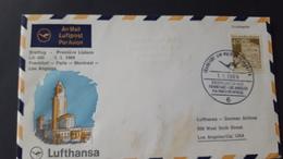 Germany 1969 First Flight Frankfurt To Los Angeles Souvenir Cover - [7] Federal Republic