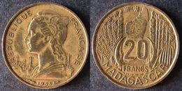 MADAGASCAR  20  Francs  1953  ENVOI GRATUIT - Madagascar