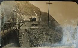 O) 1920 BRAZIL, POSTAL CARD, RAILWAY TUNNEL SANTOS, XF - Other