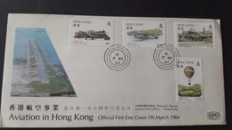 Hong Kong 1984 Aviation FDC - Hong Kong (...-1997)