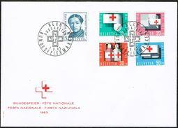 FDC PRO/P LA SERIE TIMBRES 1963 C/DES TIMBRES SUISSES Nr:B113/B117. Y&TELLIER Nr:711/715. MICHEL Nr:775/779. - FDC