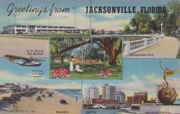 Florida Jacksonville Greetings Multi View Curteich - Jacksonville
