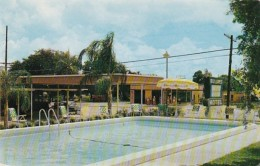 Florida Leesburg Mid Lakes Motel 1958