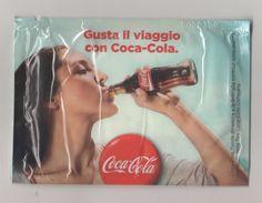 COCA-COLA - PUBLICITE GUSTA IL VIAGGIO CON COCA-COLA - SERVIETTE RAFRAICHISSANTE - VOIR LES SCANNERS - Coca-Cola