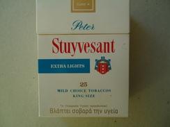 GREECE EMPTY TOBACCO BOXES IN DRACHMAS  STUYVESANT - Boites à Tabac Vides