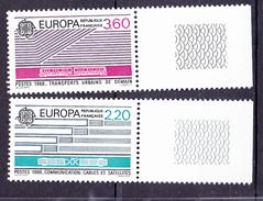 N° 2531 à 2532 Europa: Transports Et Communication: Série En 1  Timbres Neuf Impeccable Sans Charnière Bord De Feuille - France