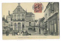 CPA 45 CHATILLON SUR LOIRE HOTEL DE VILLE ET RUE DU CORMIER - Chatillon Sur Loire