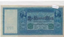 Billets -B2901-Allemagne - 100 Mark 1910 (type, Nature, Valeur, état... Voir  Double Scans) - 1871-1918: Deutsches Kaiserreich
