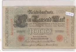 Billets -B2931-Allemagne - 1000 Mark 1910 (type, Nature, Valeur, état... Voir  Double Scans) - [ 2] 1871-1918 : German Empire