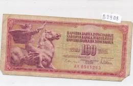 Billets -B2909-Yougoslavie -100 Dinara 1978 (type, Nature, Valeur, état... Voir  Double Scans) - Yugoslavia