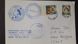 Italy 1998 Terranova Bay Penguin Post Souvenir Cover - Polar Flights