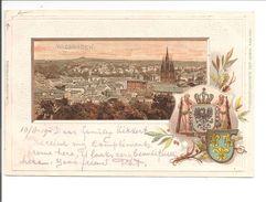 Wiesbaden. Panorama. Präge Wappen Karte - Wiesbaden