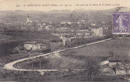 69  : Rhone :     Saint Martin En Haut  .     Vue Prise De La Route  De Saint André La Cote . - France