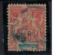 MARTINIQUE     N°  YVERT     40   OBLITERE       ( O   2/26 ) - Martinique (1886-1947)