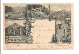 Brünnstein. Gruss Vom Brünnstein. 5 Photo's U.a. BRÜNNSTEINHAUS. HÜTTENSTEMPEL BRÜNNSTEINHAUS  VIOLET - Other
