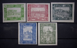 Polen Sondermarken 1943* Mi.Nr.I - V Ungebraucht Seltene !    (R430) - 1939-44: World War Two