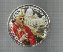 Monnaie , ETATS UNIS , Half Dollar, Cardinal Joseph Ratzinger - Pope Benedict XVI, Colorisée, 3 Scans, Frais Fr : 1.95 E - Other