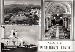 PIEDIMONTE ETNEO - SALUTI CON 3 VEDUTINE - Catania