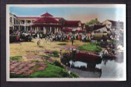 CPSM VIET NAM - SUD VIETNAM - SAIGON - SAÏGON - Centre De Thi-Nghe - Très Belle ANIMATION CENTRE QUARTIER Camions - Viêt-Nam