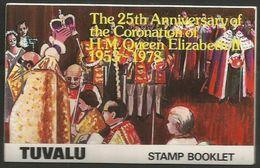 Tuvalu  - 1978 Coronation Anniversary Booklet (complete)  MNH **    SG SB1  Sc 84b - Tuvalu