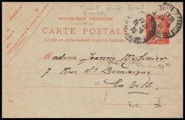 10916 Entier Postal Stationery Carte Postale Pasteur 30c Bouches Du Rhone Marseille Saint Charles 1923 - Postmark Collection (Covers)
