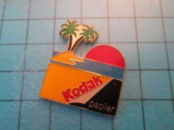 Pin513k Pin's Pins / Beau Et Rare : KODAK PALMIER ILE DESERTE SOLEIL COUCHANT - Photography