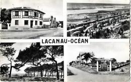 CPA (Réf AS077) Souvenirs De LACANAU-OCÉAN) (GIRONDE 33) -La Poste, La Plage, Les Pins Sur Le Bord De Mer) - France