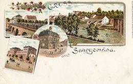 57 - Gruss Aus Saargemund - Avec Collage De Petites Particules De Brillant - Sarreguemines