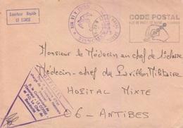 """Lettre En Franchise """"Officiel"""" E.R. Le Corse, Oblitération Flamme Brest Naval 31/1/73 + Marine Nationale - Postmark Collection (Covers)"""