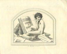 RARE BEL EXLIBRIS ANCIEN Par A. BESSE Pour Gérard De MARTA - 1905 - Devise; ET D'UN DOUX RÊVE, LOIN DE L'ENVIE, BERCER.. - Ex-libris
